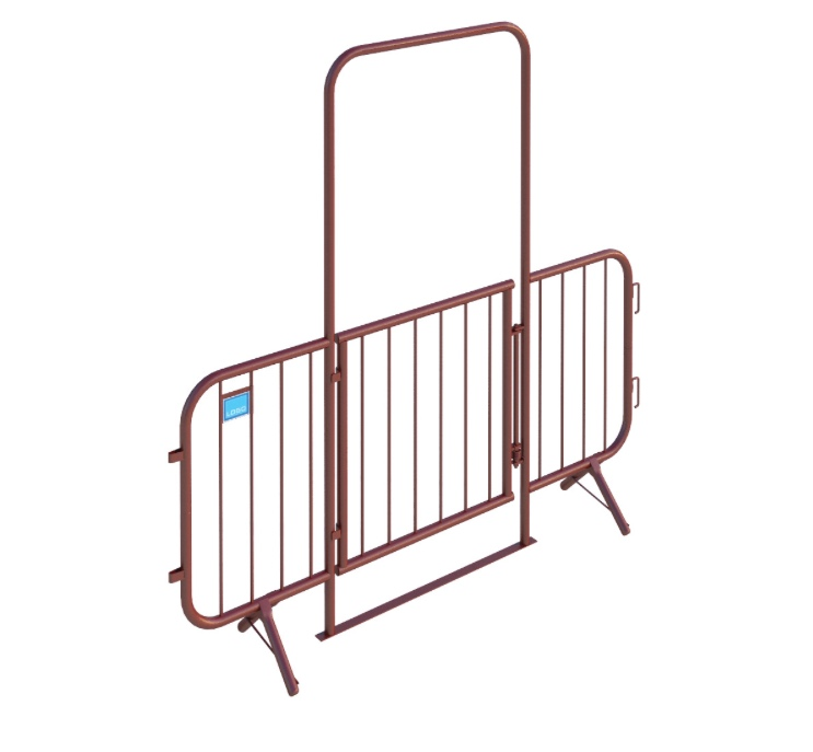 Walk Through Barrier with Gate