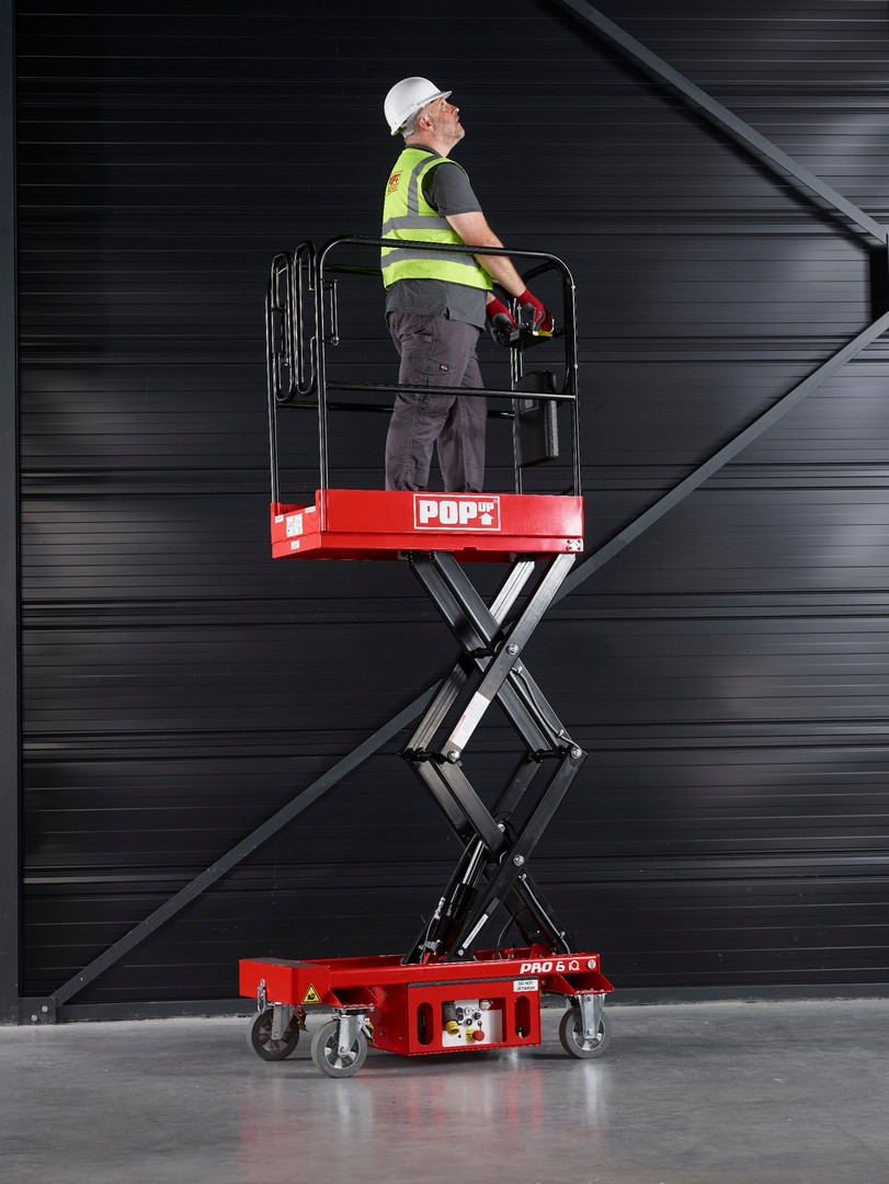 PopUp Pro 10 IQ 3m Platform Push Around Scissor Lift 240Kg SWL