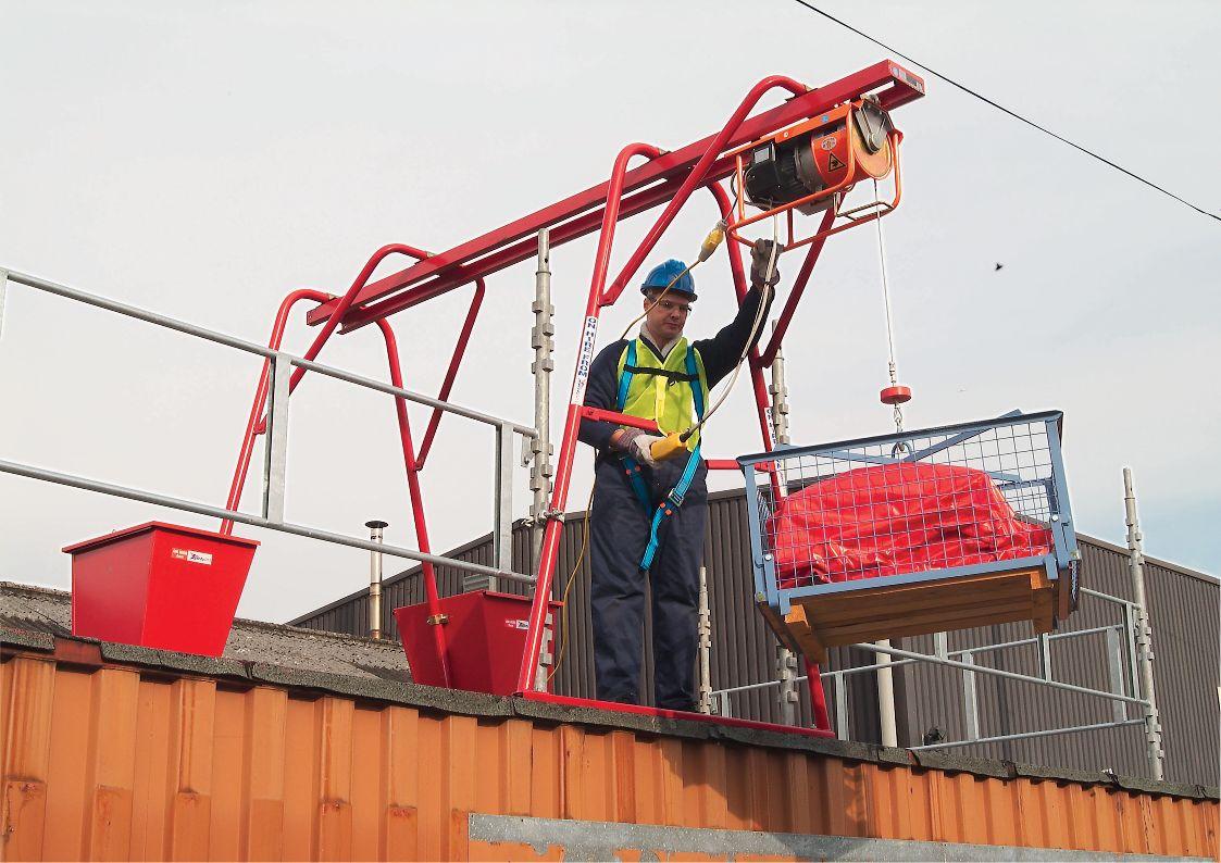Builders Gantry Hoist 300kg SWL 110v