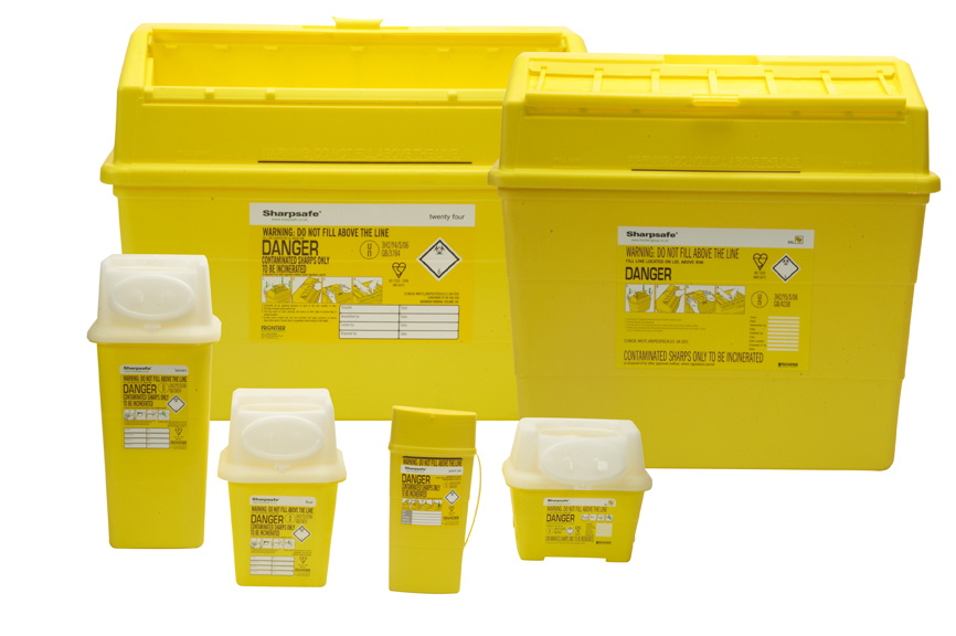 Sharpsafe Sharps Disposal Container 2 Ltr