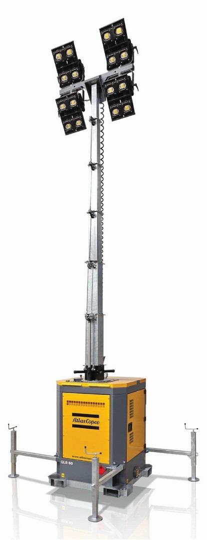 Atlas Copco QLB60 8m LED Lighting Tower 240v 907Kg