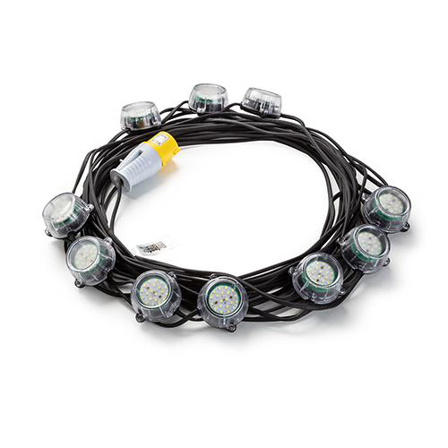 Festoon 22m LED Light Kit 25w 110v