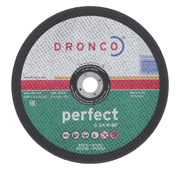 Dronco Stone Cutting Disc 230 x 3 x 22.23mm