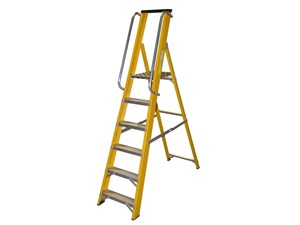 GRP STEP LADDER WITH HANDRAILS 6 TREAD
