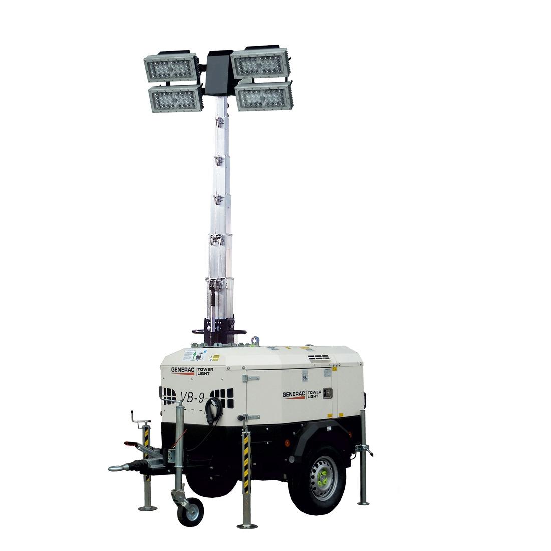 Generac VB9ECO 8.5m LED Lighting Tower Diesel 960Kg