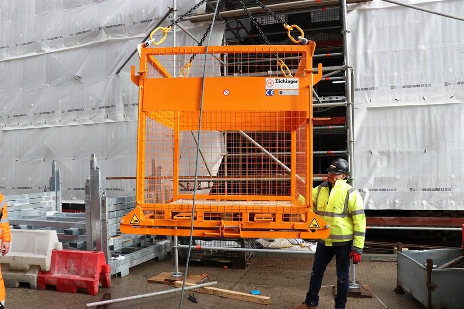 Pallet Cage Crane Lift