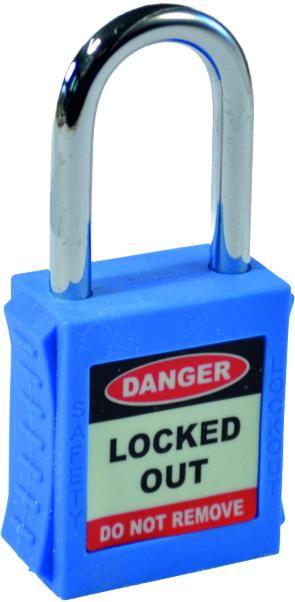 Safety Lockout Padlock Single Key - Blue