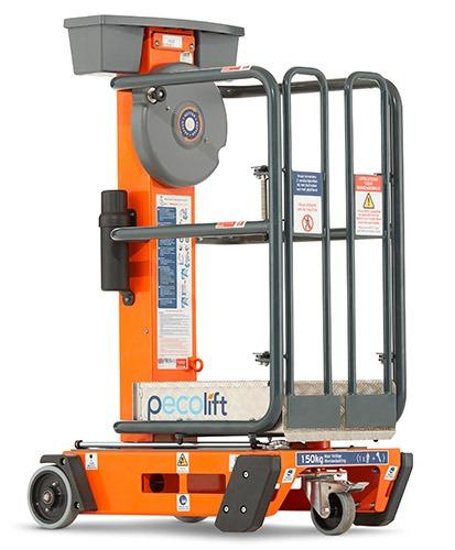 PowerTower Pecolift 1.5m Platform Push Around Manual Lift 150Kg SWL
