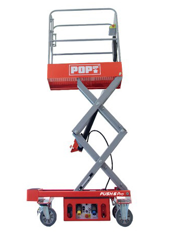 PopUp Push PRO6 Push-Around Scissor Lift 240Kg Capacity