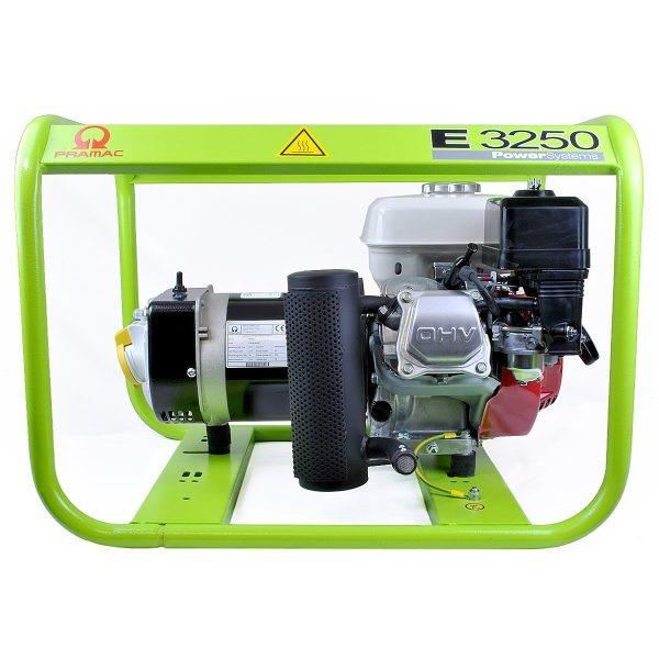 Pramac E3250 2kVA Portable Generator Petrol 110/240v 38kg