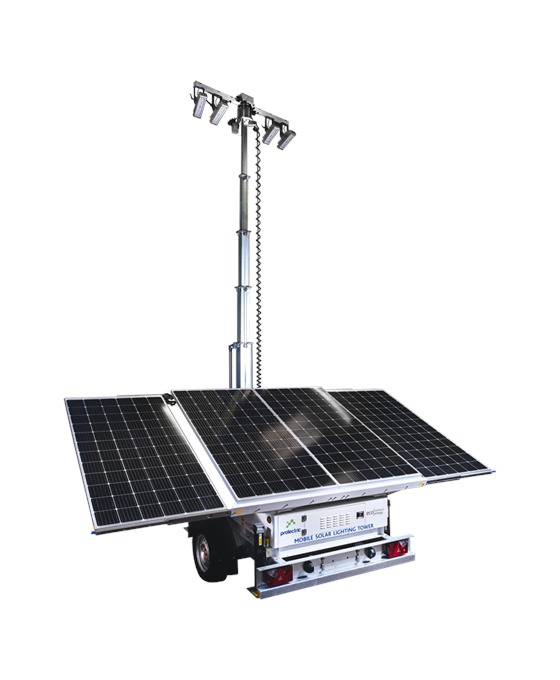 Prolectric Pro Light 7.5m LED Solar Lighting Tower