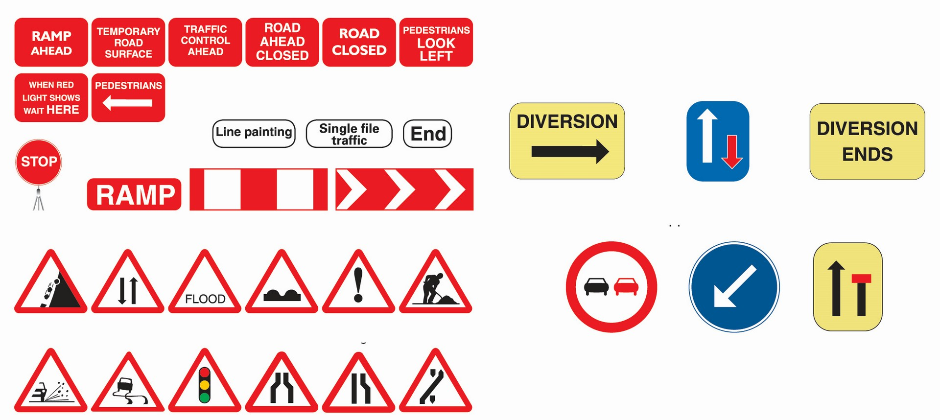 Road Sign Rectangle 1000mm x 1125mm