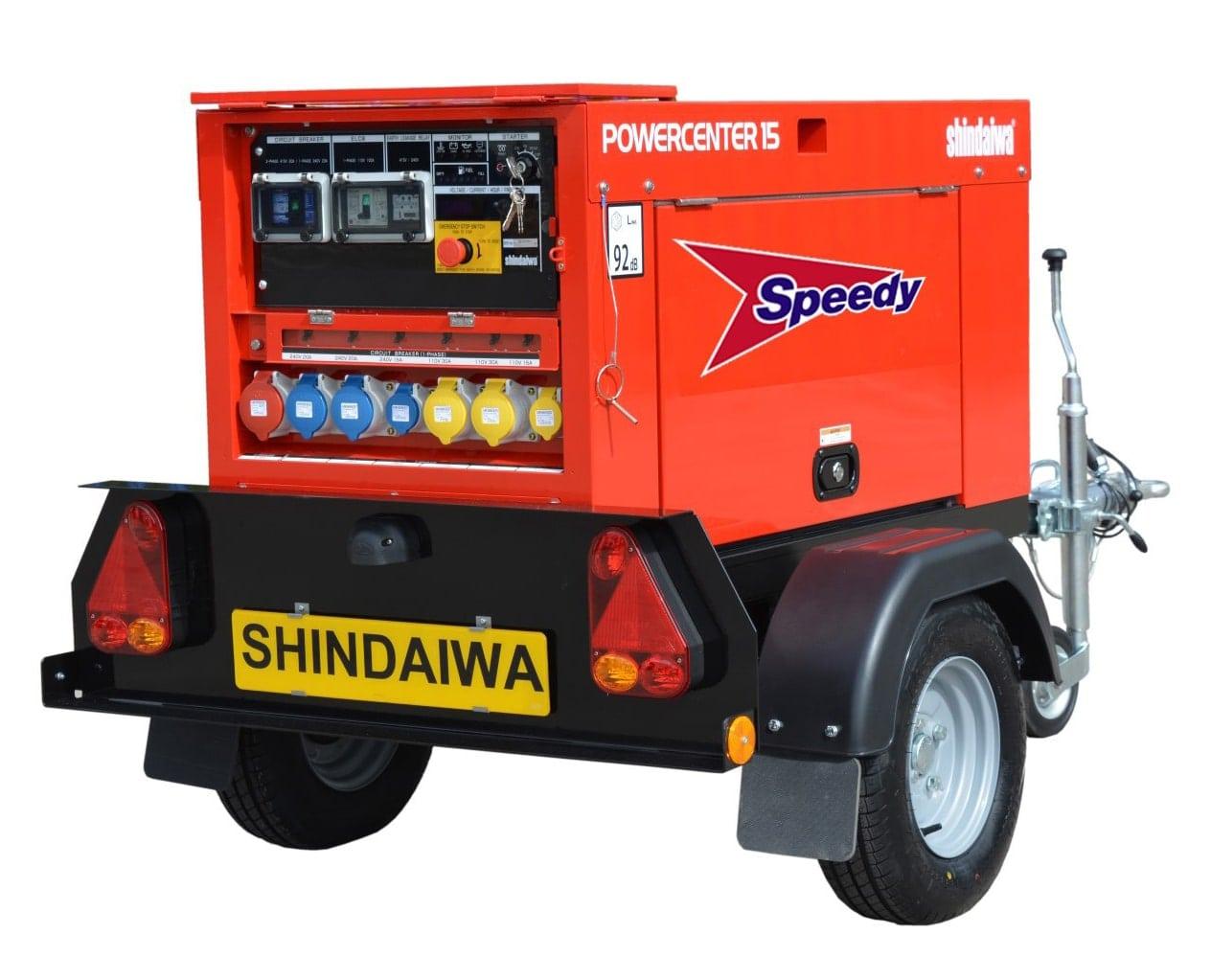Silenced Generator Diesel 15kva 387kg
