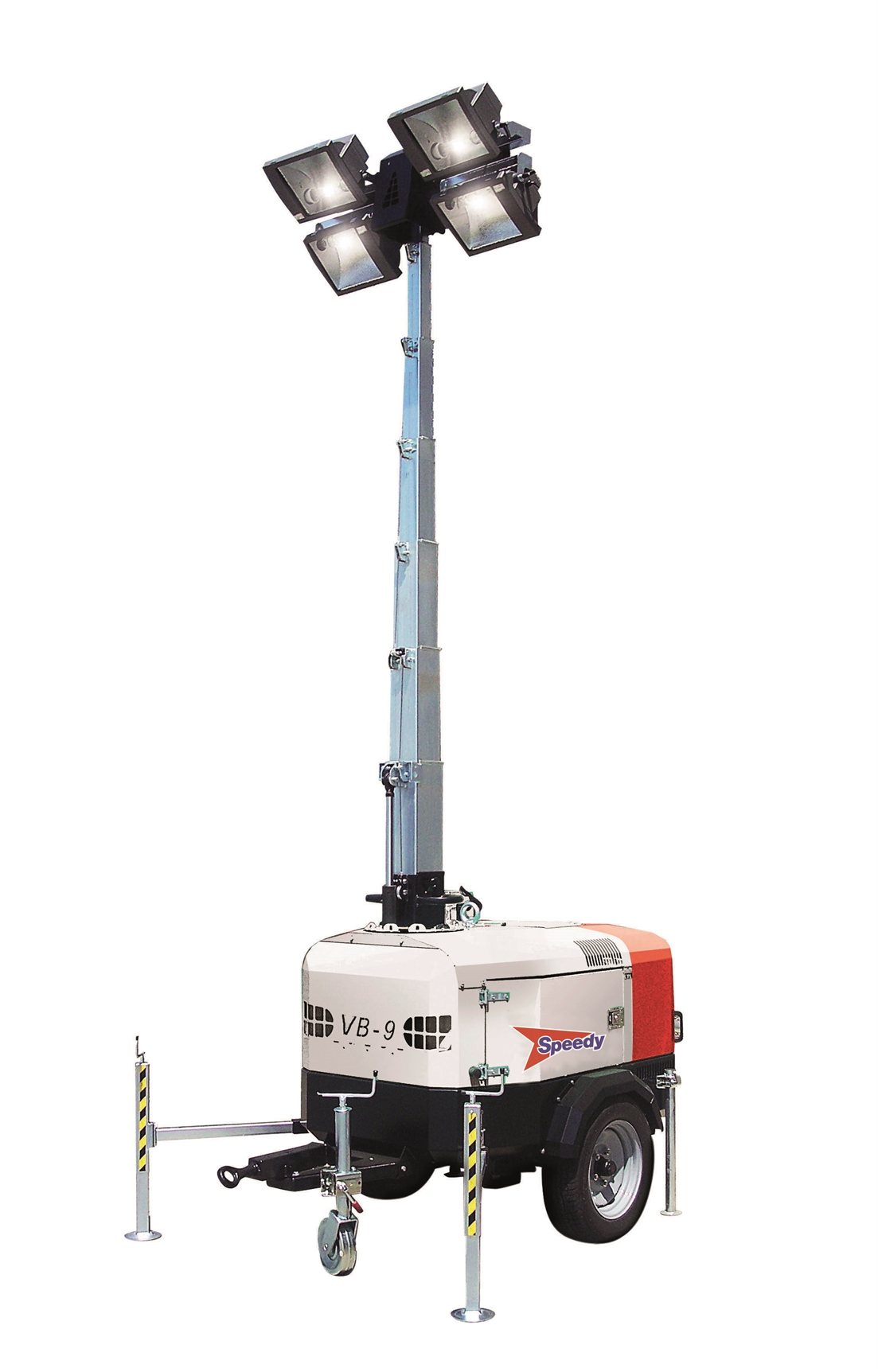 Towerlight VB9 9m Metal Halide Lighting Tower - Towable