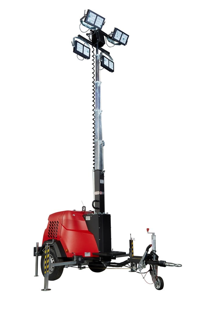 Generac VB9+ 9m Poly Shell LED Lighting Tower - Towable