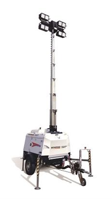 Towerlight VT-Hybrid 9M LED Lighting Tower Diesel Towable