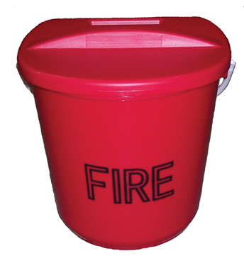 Plastic Fire Bucket - 10 Litre