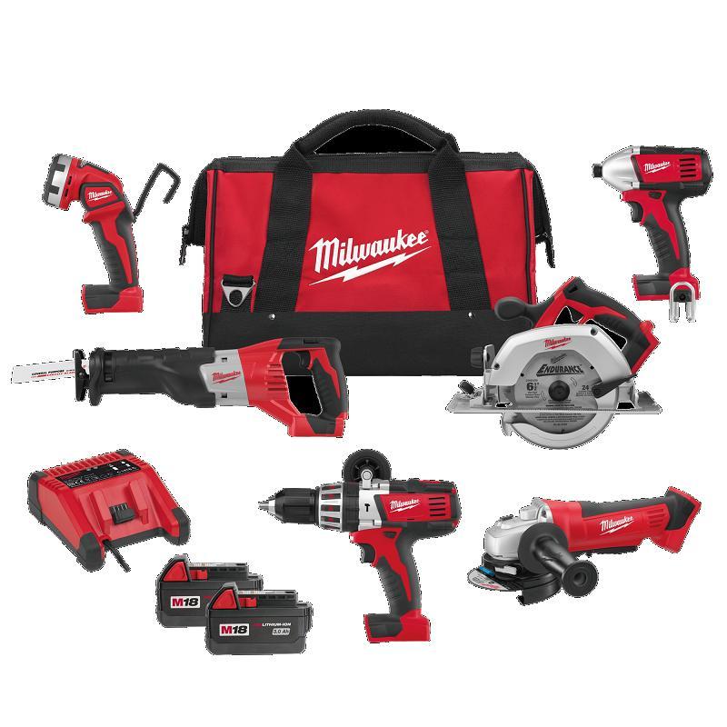 Milwaukee M18 Powerpack 6-Piece Tool Kit