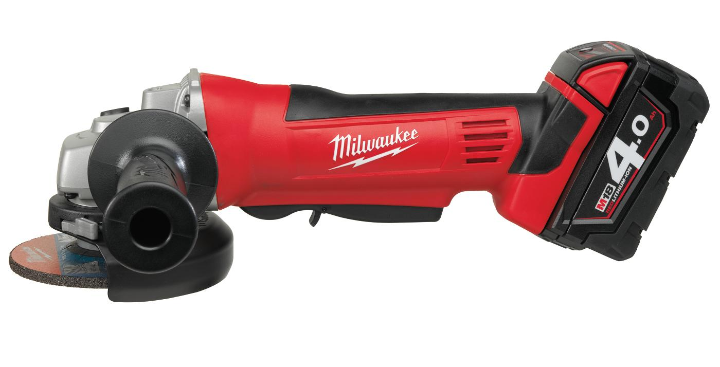 Milwaukee HG18AG 115mm Cordless Angle Grinder With Batteries
