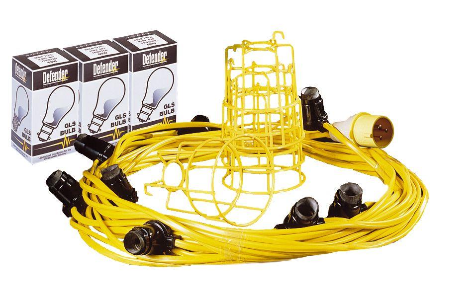 Festoon Light String 100m - 20 ES Holders