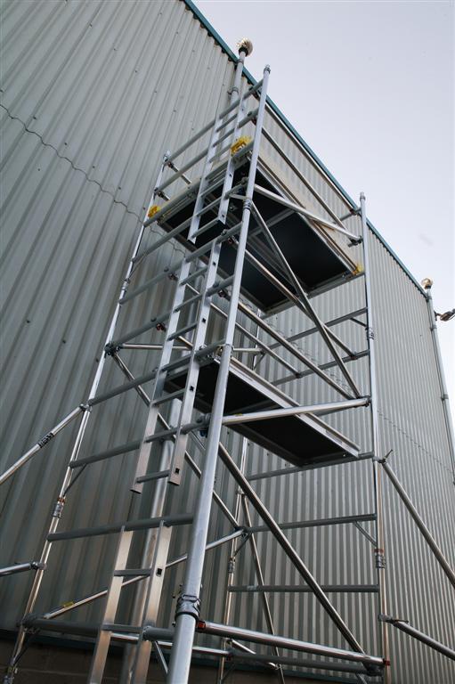 Boss Single Width Tower - Deck Length 2.5m Platform Height 7.7m