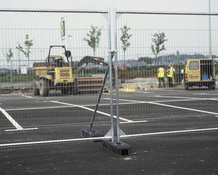 Heavy Duty Square Top Fence Panel 2x3.5m, Anti-climb Mesh
