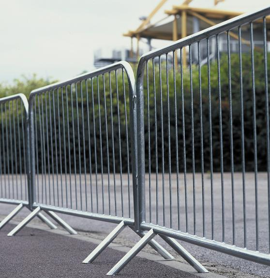 Crowd Control Barrier,  fixed leg, 1.5x2.3m