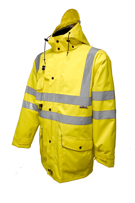 7 In 1 Raincoat Yellow - EN471 - XL
