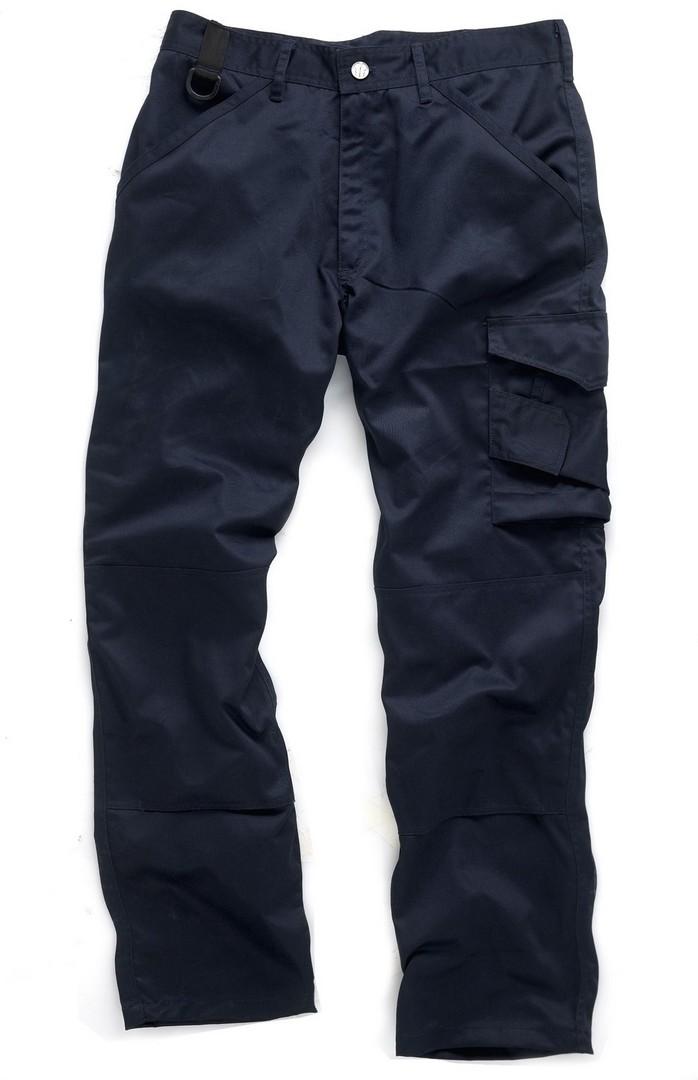 Scruffs Worker Trouser Navy - 36in Waist, 33in Leg
