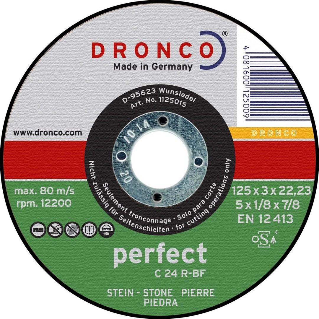 Dronco Stone Cutting Disc Flat - 100 x 3 x 16mm