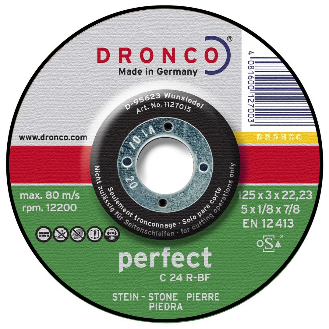 Dronco Stone Cutting Disc DPC - 180 x 3 x 22.23mm