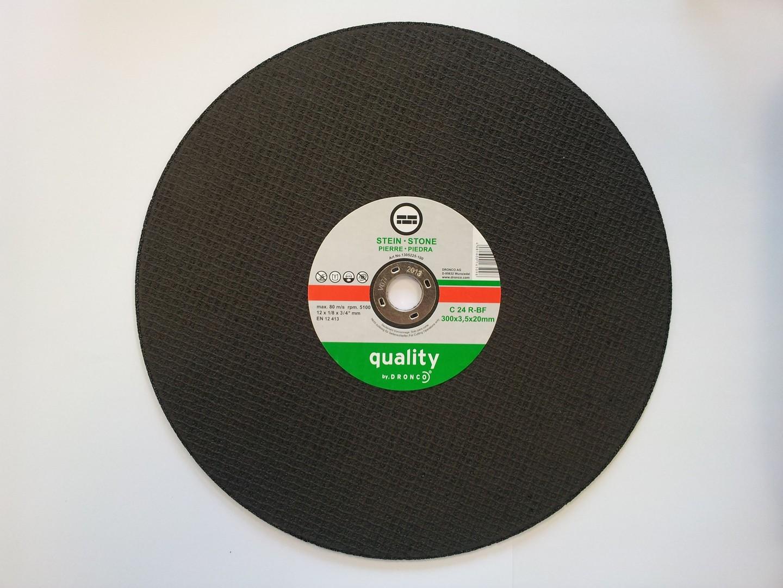 Dronco Stone Cutting Disc Flat - 300 x 3 x 22.23mm
