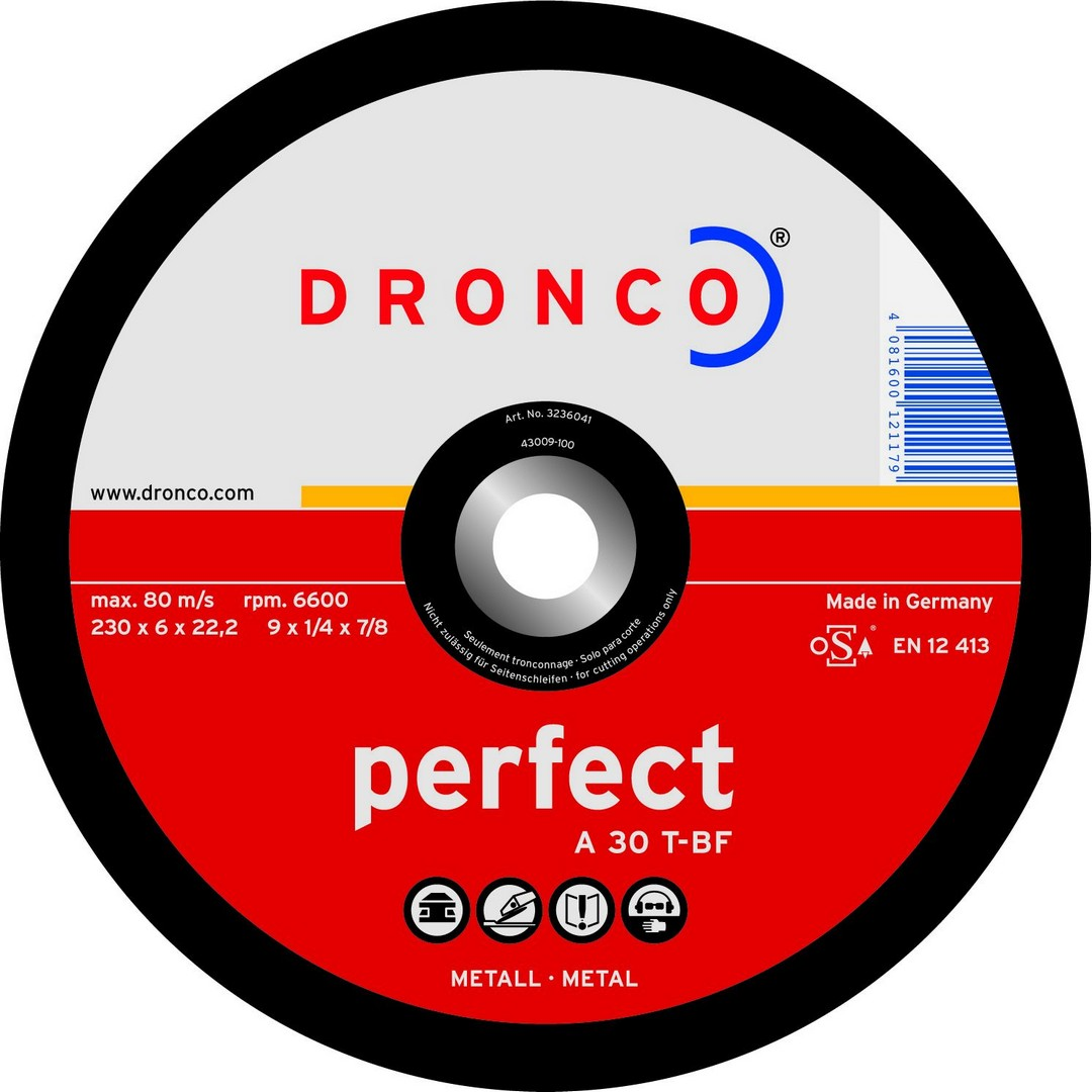 Dronco Metal Grinding Disc DPC - 178x6.4x22mm