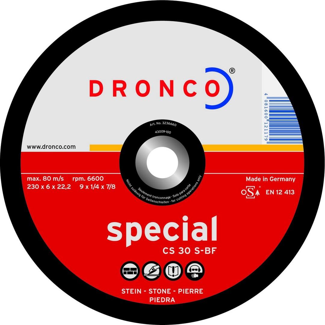 Dronco Stone Grinding Disc DPC - 180 x 6 x 22.23mm