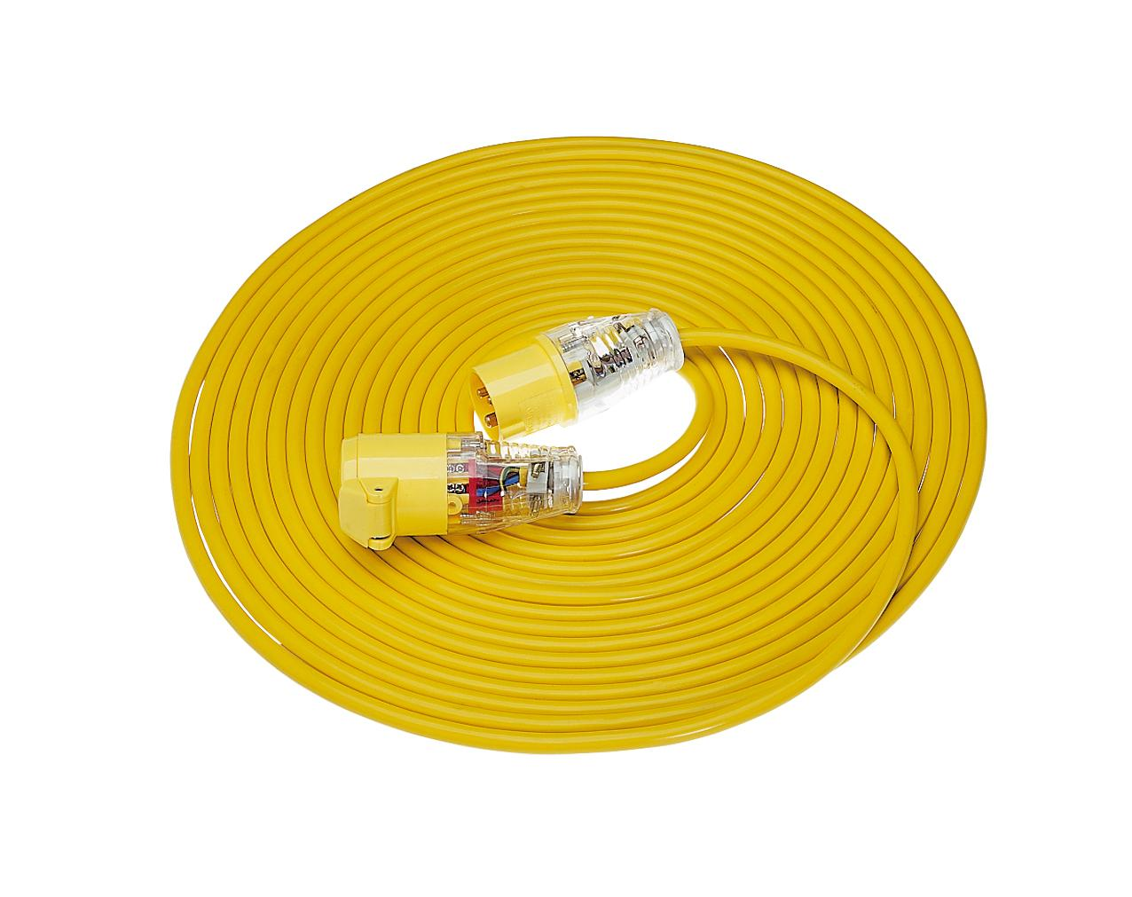 1.5 16a 14m 110v Arctic Yellow Extension Lead