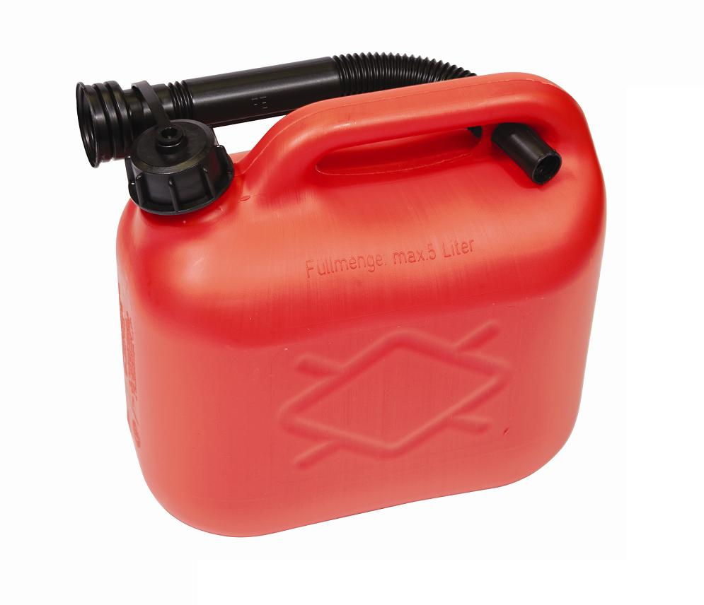 Plastic Fuel Can - Red 5ltr