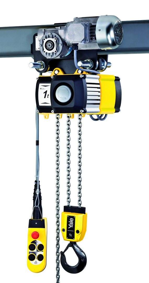 Yale Chain Hoist - Electric 1000kg x 3m HOL.2 Sp.Push Trolley 1000kg/2Fall