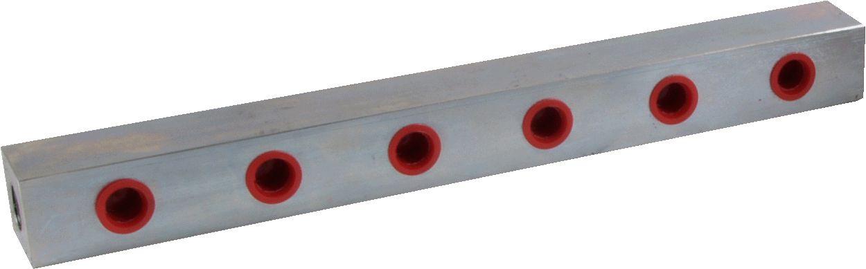 Manifold - Open Block, 6-Way