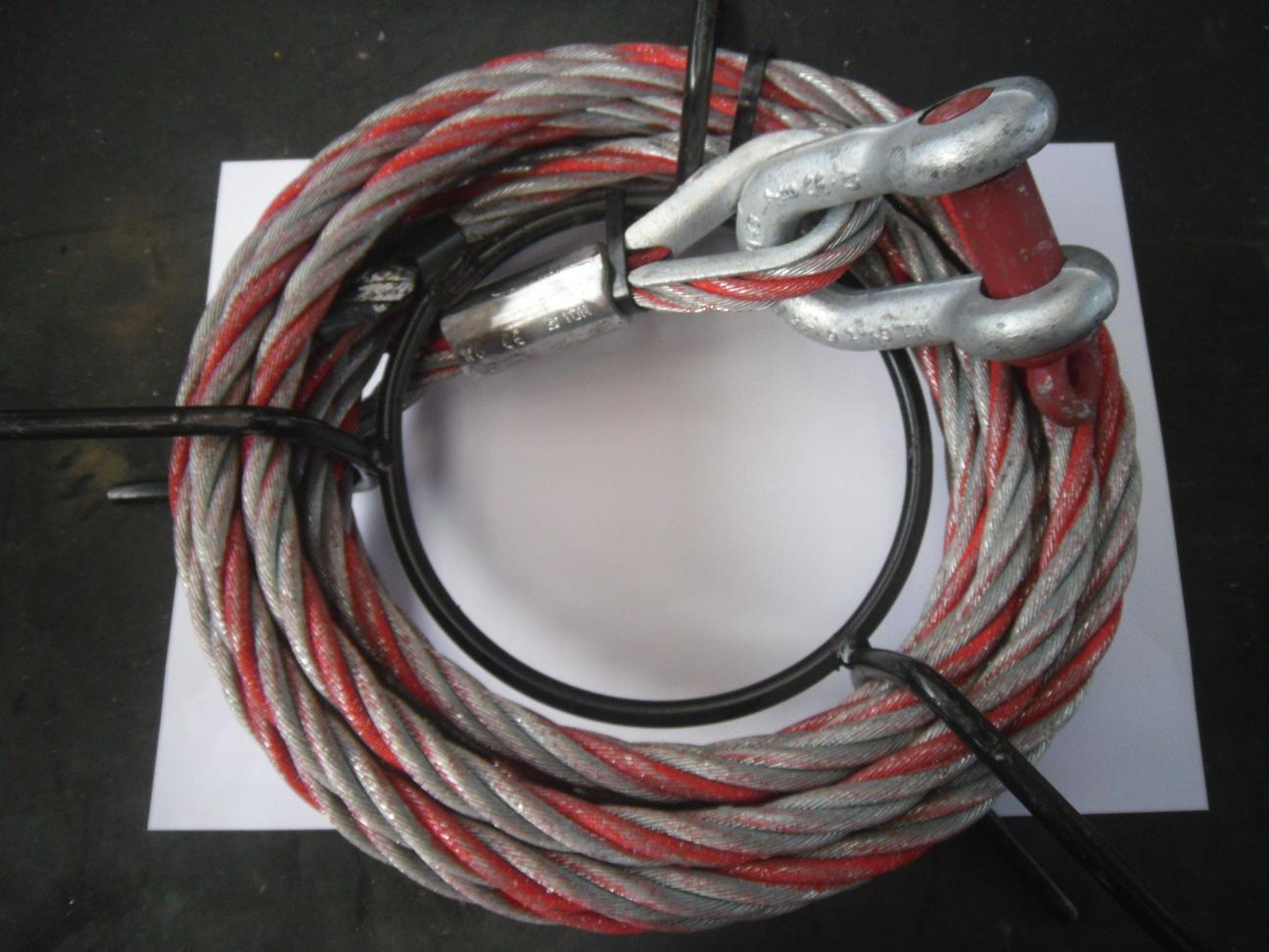 Tirfor 10m Long 16.3mm Diameter Wire Rope 3200kg SWL